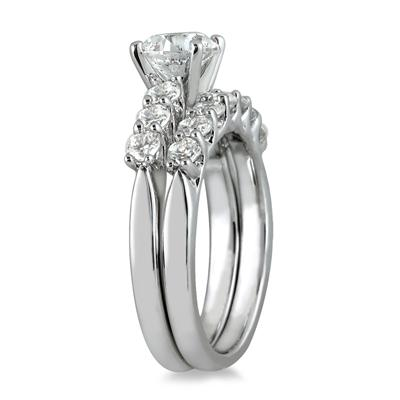 Diamond Bridal Set in 14K White Gold