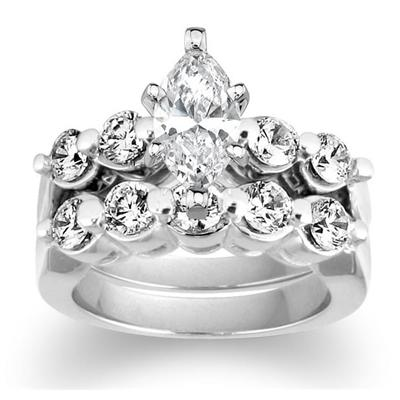 Diamond Bridal Set in White Gold