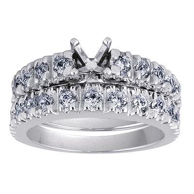 Diamond Bridal Set in White Gold
