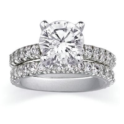 Diamond Bridal Set in Platinum