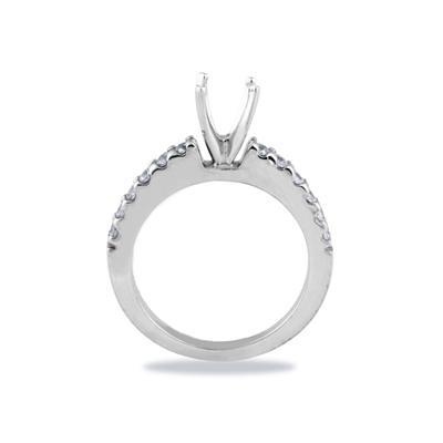 Platinum Prong Set Diamond Engagement Ring with Matching Band