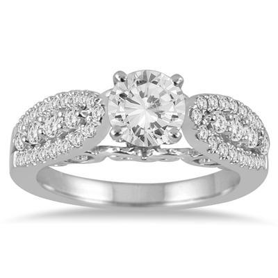 Diamond Engagement Ring in 14K White Gold