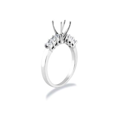 18k White Gold Diamond Engagement Ring Setting