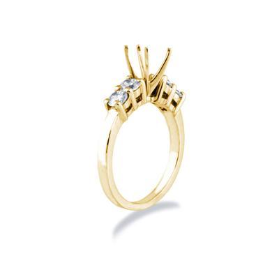 14k Yellow Gold Diamond Engagement Ring Setting