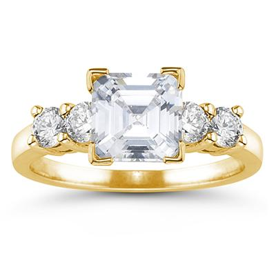14k Yellow Gold Diamond Engagement Ring Setting