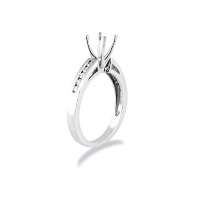 Platinum Channel Set Diamond Engagement Ring Setting
