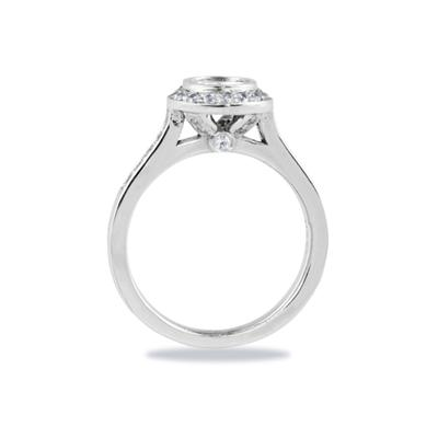 18k White Gold Bezel Set Engagement Ring