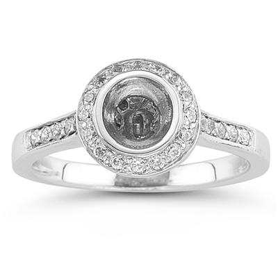 Platinum Bezel Set Engagement Ring