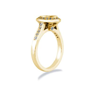 14k Yellow Gold Bezel  Set Engagement Ring