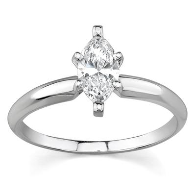 Classic Solitaire Setting in White Gold Setting