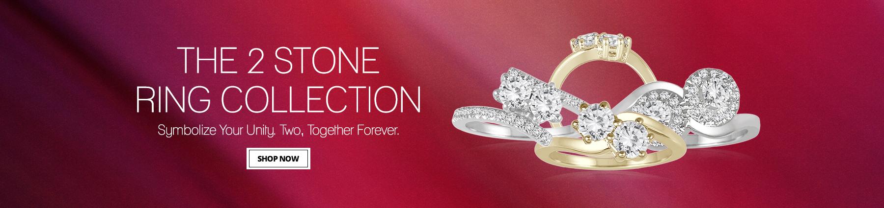 Diamond 2 Stone Rings, Two Stone Rings