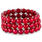 9MM Natural Freshwater Cranberry Colored Pearl Stretch Bracelet