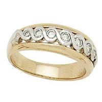 Two-tone Infinity Diamond Men's Ring