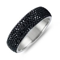Black Crystal Rhinestone Bangle