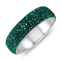 Green Crystal Rhinestone Bangle