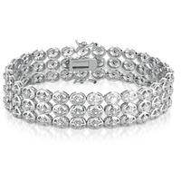 1.00 Carat Diamond Antique Bracelet in .925 Sterling Silver