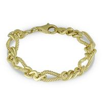 Italian Vermeil Bracelet in Plated .925 Sterling Silver