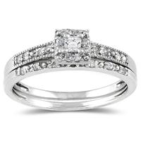 Princess Diamond Bridal Set in 10K White Gold