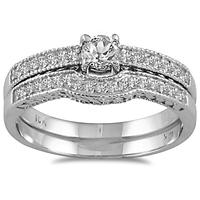 3/8 CTW Diamond Bridal Set in 10K White Gold