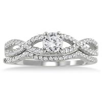 5/8 Carat Diamond Bridal Set in 10K White Gold