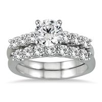 1 7/8 Carat Diamond Bridal Set in 14K White Gold