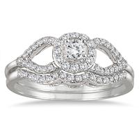 2/5 Carat Diamond Bridal Set in 10K White Gold