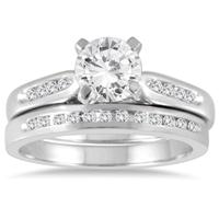 1 1/5 Carat TW Diamond Bridal Set in 14K White Gold
