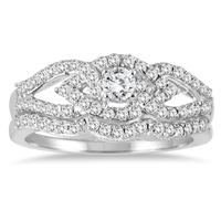 Diamond Bridal Set in 10K White Gold