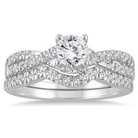 7/8 Carat TW Diamond Brida Set in 10K White Gold