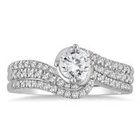 3/4 Carat TW Diamond Engagement set in 10K White Gold