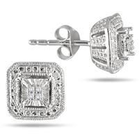 Diamond Antique Earrings in .925 Sterling Silver