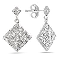 Diamond Antique Earrings in .925 Sterling Silver