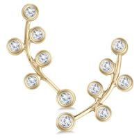 1/4 Carat TW Diamond Bauble Earrings Set in 14K Yellow Gold