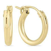 14K Yellow Gold Filled Hoop Earrings (15mm)
