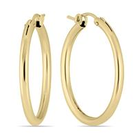 14K Yellow Gold Filled Hoop Earrings (27mm)