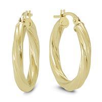 20MM Rope Hoop Earrings in 10K Yellow Gold