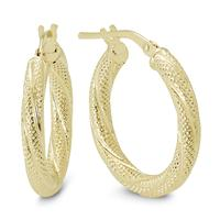 20MM Round Luster Hoop Earrings in 10K Yellow Gold