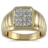Men's Diamond Ring in 10K Yellow Gold