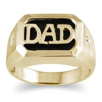 Onyx & Diamond DAD Ring Yellow Gold
