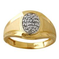 .25CTW Yellow Gold and Diamond Men's Ring