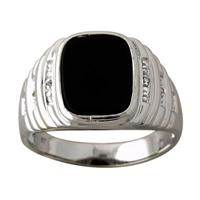 Men's Diamond Ring in 10kt White Gold