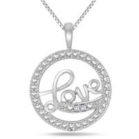 Diamond LOVE Pendant in .925 Sterling Silver