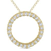 .30ctw Diamond Circle Pendant in 14K Yellow  Gold
