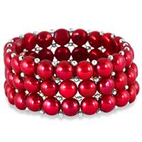 9MM Natural Freshwater Holiday Cranberry Pearl Bracelet