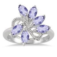 3.00 Carat TW Tanzanite Ring in .925 Sterling Silver