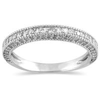 3/4 Carat Diamond Wedding Band in 10K White Gold