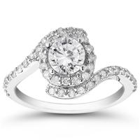 1.50 Carat White Diamond Ring in 10K White Gold