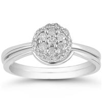 1/4 Carat Diamond Bridal Set in 10K White Gold