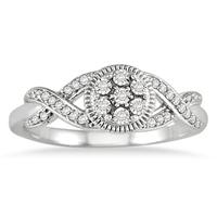 1/10 Carat TW Diamond Ring in 14K White Gold