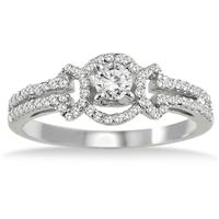 1/2 Carat Diamond Ring in 10K White Gold